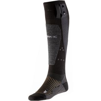 Therm-ic Merino Powersock Set Heat Uni + S-Pack Skisocken schwarz-grau