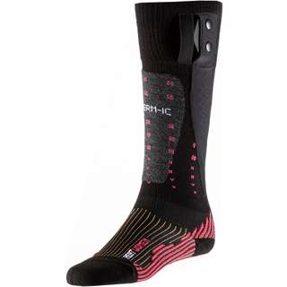 Therm-ic Merino Powersock Heat Ladies v2 Skisocken Damen pink-schwarz-grau