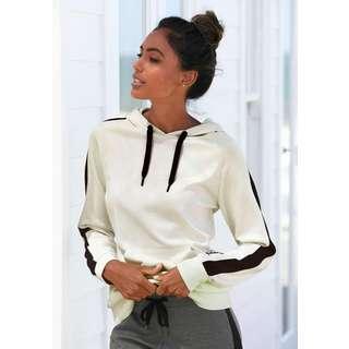 Bench Sweatshirt Damen ecru-schwarz