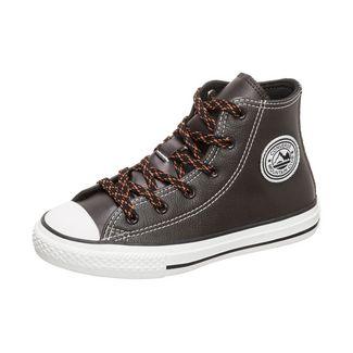 CONVERSE Chuck Taylor All Star Tumbled Leather Sneaker Kinder braun / weiß