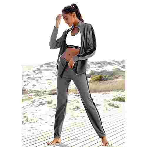 Bench Sweathose Damen anthrazit-meliert-schwarz