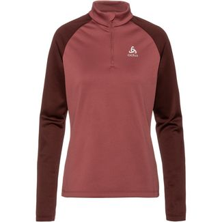 Odlo Planches Funktionsshirt Damen roan rouge-decadent chocolate