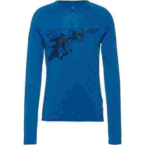 Odlo ALLIANCE MERINO Langarmshirt Herren mykonos blue-mountain print FW19
