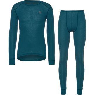 Odlo Active Warm Wäscheset Herren blue coral