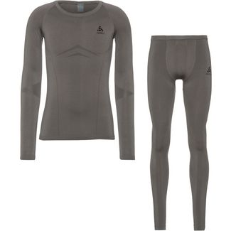 Odlo Performance Evolution Warm Wäscheset Herren steel grey -odlo graphite grey