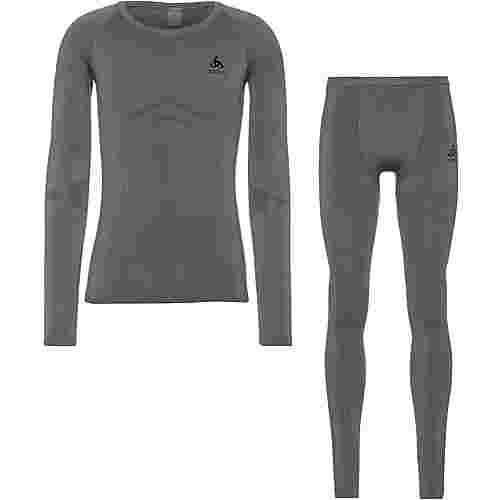 Odlo Performance Evolution Warm Wäscheset Herren steel grey -odlo graphite grey