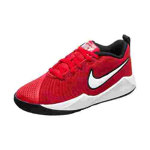 Nike Team Hustle Quick 2 Basketballschuhe Kinder rot / weiß