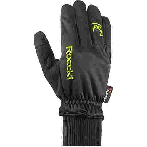Roeckl GORE-TEX® Rax Fahrradhandschuhe schwarz-gelb