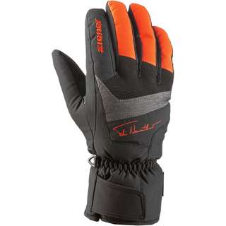 Ziener Skihandschuhe Kinder black-bright-orange