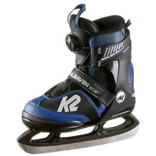 K2 Rink Raven Ice Boa Schlittschuhe Kinder blue black