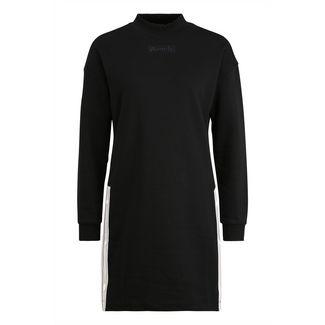 Bench Jerseykleid Damen schwarz-weiß
