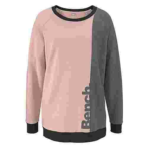 Bench Sweatshirt Damen rosa-anthrazit