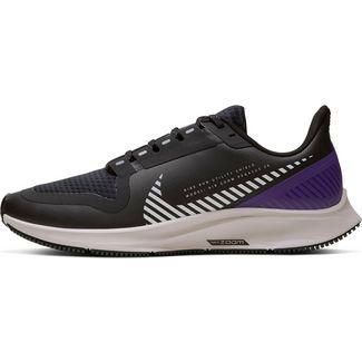 Nike Air Zoom Pegasus 36 Shield Laufschuhe Damen black-silver-desert sand-voltage purple