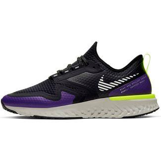 Nike Odyssey React 2 Shield Laufschuhe Damen black-metallic silver-voltage purple