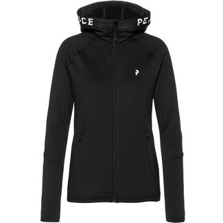 Peak Performance Rider Zip Hood Kapuzenjacke Damen black