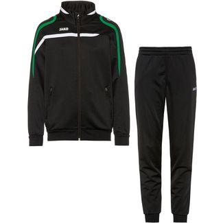 JAKO Performance Trainingsanzug Kinder schwarz-weiß-sportgrün