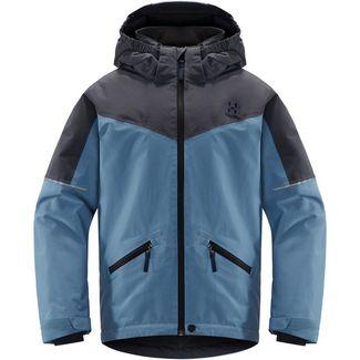 Haglöfs Niva Insulated Jacket Hardshelljacke Kinder Silver Blue/Dense Blue