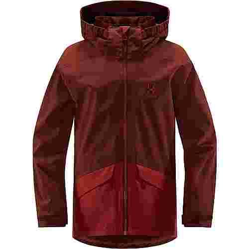 Haglöfs Mila Jacket Hardshelljacke Kinder Maroon Red/Brick Red
