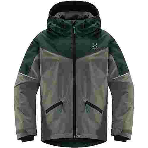 Haglöfs Niva Insulated Jacket Hardshelljacke Kinder Agave Green/Mineral