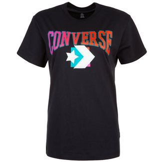 CONVERSE Grand Chevron T-Shirt Damen schwarz