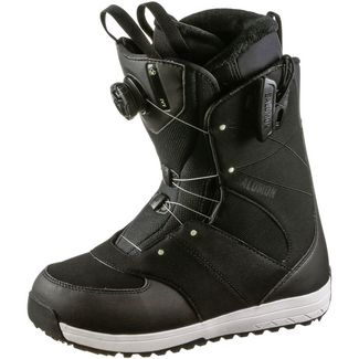 Salomon Ivy Boa SJ Snowboard Boots Damen black-black-pale Lime Yellow