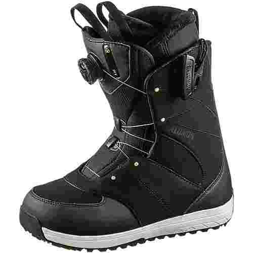 Salomon Ivy Boa SJ Snowboard Boots Damen black-black-pale Lime Yellow
