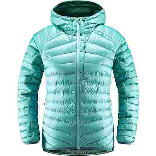 Haglöfs Essens Down Hood Outdoorjacke Damen Glacier Green/Willow Green