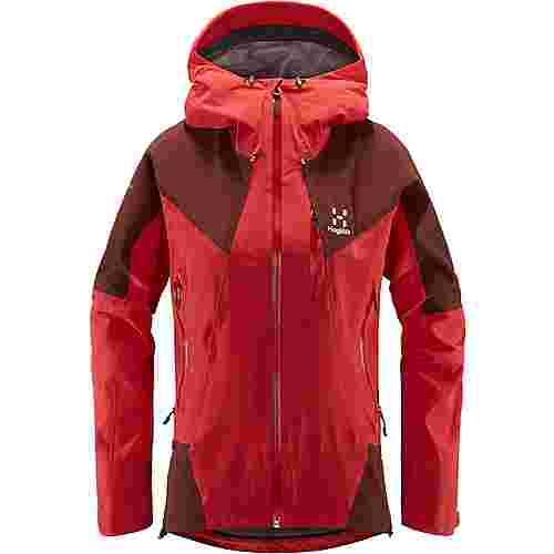 Haglöfs L.I.M Touring PROOF Jacket Hardshelljacke Damen Hibiscus Red/Maroon Red