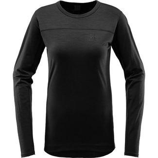 Haglöfs Actives Wool Roundneck Langarmshirt Damen True Black
