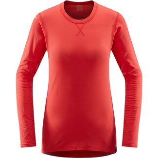 Haglöfs L.I.M Mid Roundneck Funktionsshirt Damen Hibiscus Red