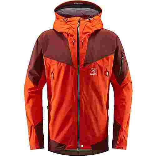 Haglöfs GORE-TEX® Roc Spire Jacket Hardshelljacke Herren Habanero/Maroon Red