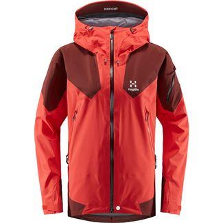 Haglöfs Roc Spire Jacket Hardshelljacke Damen Hibiscus Red/Maroon Red