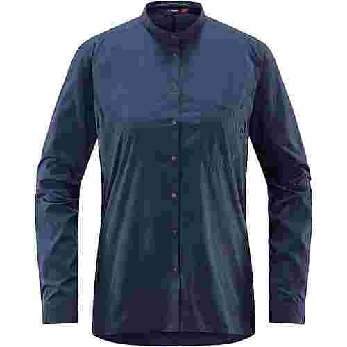Haglöfs Vajan LS Shirt Outdoorhemd Damen Tarn Blue