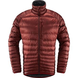 Haglöfs Essens Down Jacket Outdoorjacke Herren Maroon Red/Magnetite