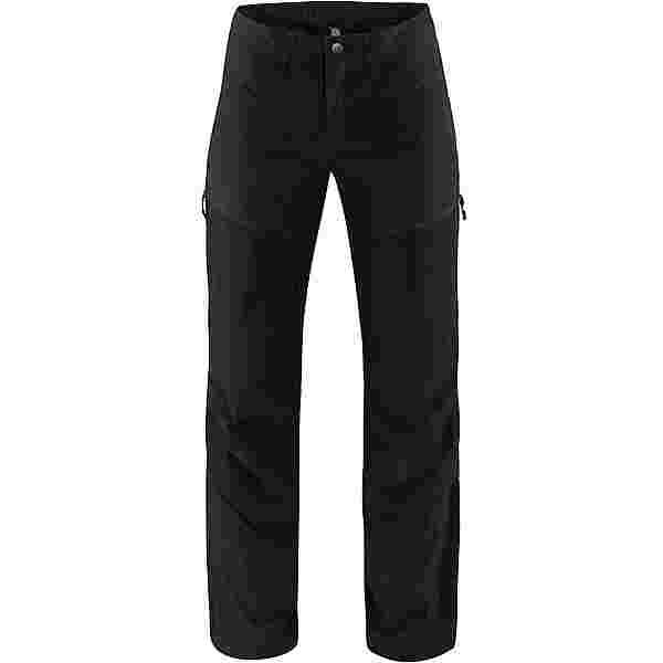 Haglöfs Mid Flex Pant Trekkinghose Damen True Black Solid Short