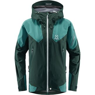 Haglöfs Roc Spire Jacket Hardshelljacke Damen Mineral/Willow Green
