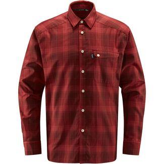 Haglöfs Tarn Flannell Shirt Outdoorhemd Herren Maroon Red/Brick Red