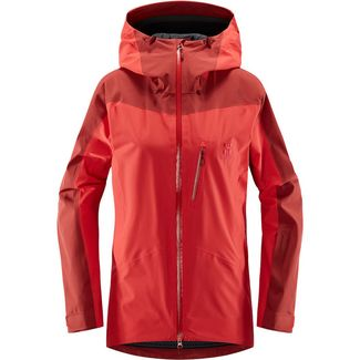 Haglöfs Niva Jacket Hardshelljacke Damen Hibiscus Red/Brick Red