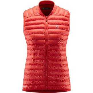 Haglöfs Essens Mimic Vest Outdoorweste Damen Hibiscus Red/Brick Red