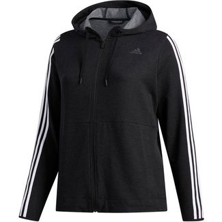 adidas Plus Size Trainingsjacke Damen black