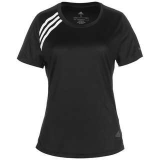 adidas RUN IT 3-STRIPES REPONSE AEROREADY Funktionsshirt Damen black