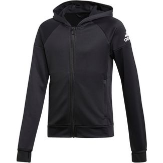 adidas JG TR EQ FZ HD Trainingsjacke Kinder black