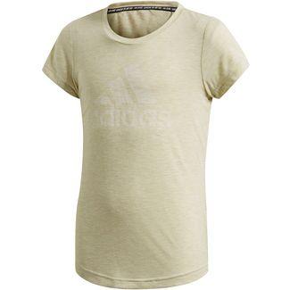 adidas JG A MHE Tee T-Shirt Kinder yellow tint mel