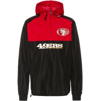 New Era San Francisco 49ers Windbreaker Herren black-red