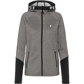 Peak Performance Rider Zip Hood Kapuzenjacke Damen grey melange