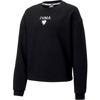 PUMA Alpha Crew Sweatshirt Kinder puma black