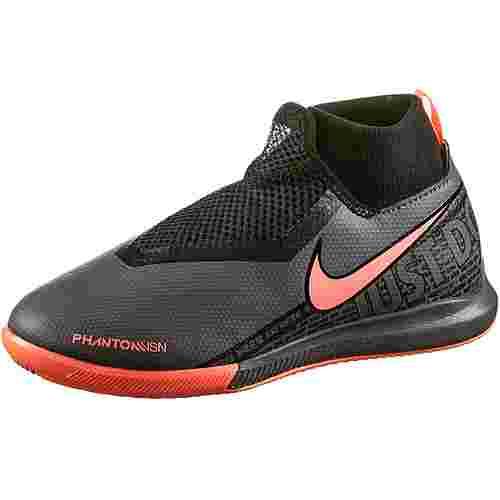 Nike JR PHANTOM VSN ACADEMY DF IC Fußballschuhe Kinder dark grey-bright mango-black