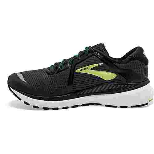 Brooks Adrenaline GTS 20 Laufschuhe Herren black-lime-blue grass