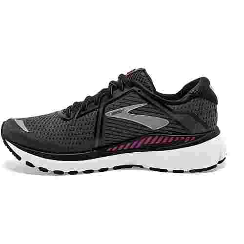 Brooks Adrenaline GTS 20 Laufschuhe Damen black-white-hollyhock