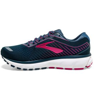 Brooks Ghost 12 Laufschuhe Damen majolica-blue-beetroot